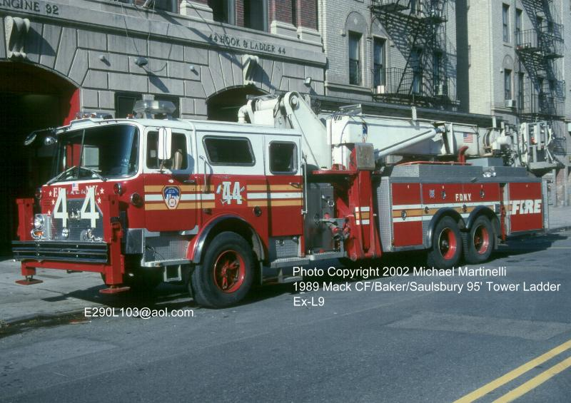 fdny tl 44 s old mack apparatus sitting in virginia fire department