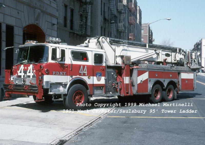 FDNY TL-44's old Mack Apparatus sitting in Virginia Fire